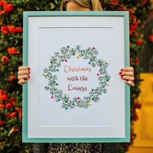 Personalised Brussel Sprout Wreath Print