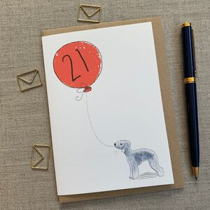 Personalised Bedlington Terrier Birthday Card
