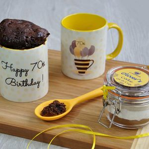 70th Birthday Chocolate Mug Cake Gift Set