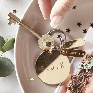 Personalised Mirror Charm Keyring - gifts for her