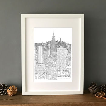 Personalised New York City Skyline Print