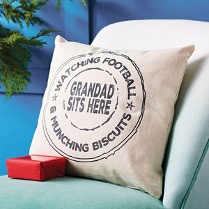 Personalised Grandad Stamp Cushion - gifts for grandparents