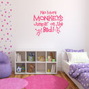 No Jumpin' On The Bed Wall Sticker