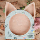 Personalised Eco Friendly Wooden Fox Plate
