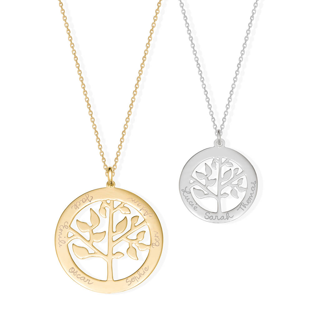 plate sterling jack tree and of keith in yellow life gold silver necklace