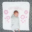 Personalised Flower New Baby Blanket