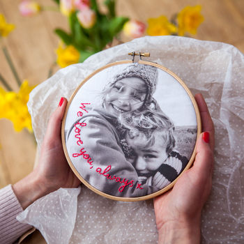 Personalised Message Photo Hoop