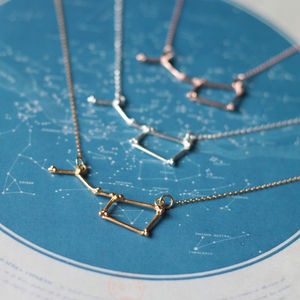 Ursa Major Constellation Necklace - constellation trend