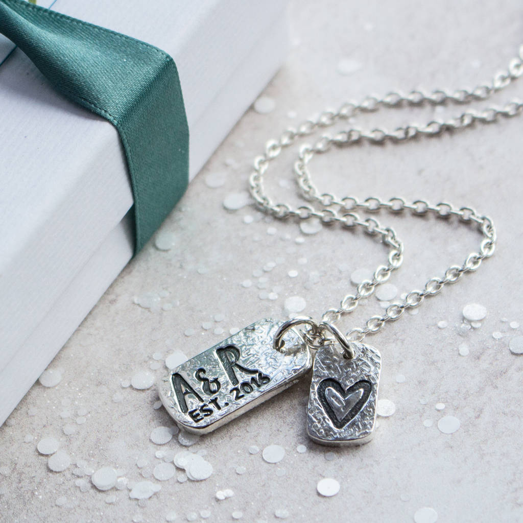anniversary pendant necklace diamond from lily winter letter lotty happy love lulu and silver