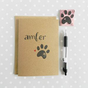 Personalised Pet Card