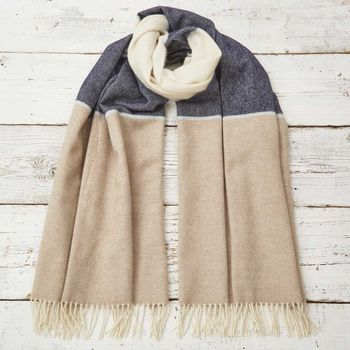Navy Block Blanket Scarf / Giant Wrap On Wait List