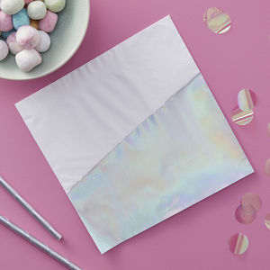 Iridescent Foiled Dipped Party Paper Napkins