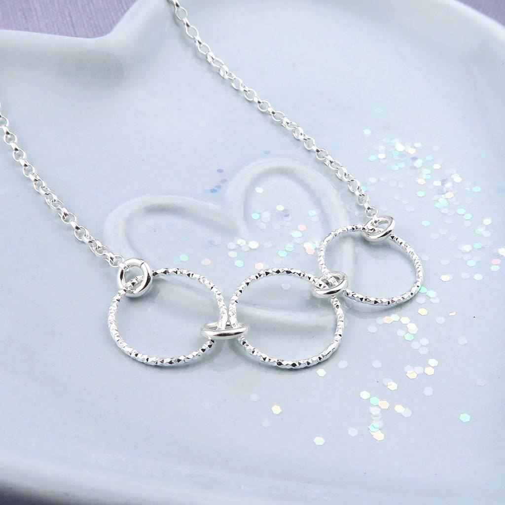 Silver Rings Necklace