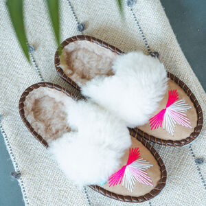 Sen Pink Mule Sheepers Slippers