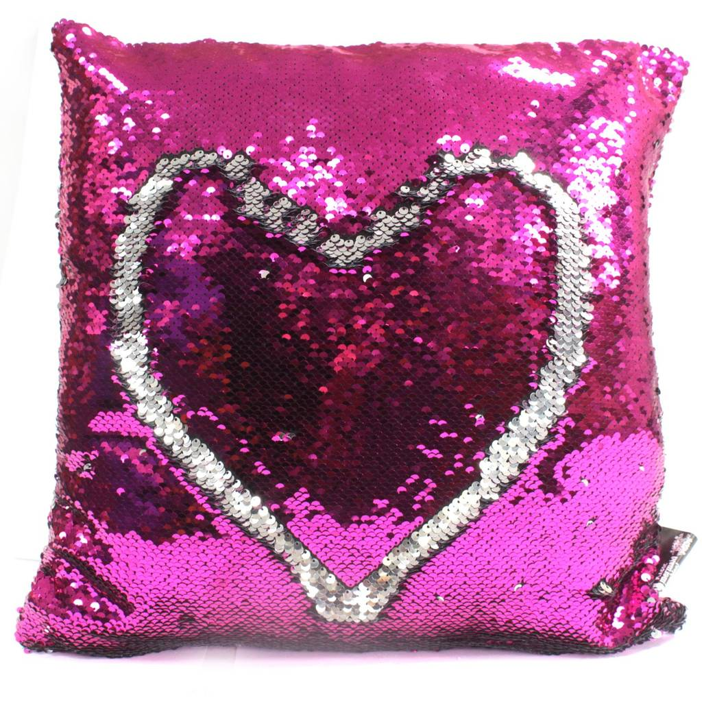 sequin reveal mermaid cushion cover non personalised by personalised ...