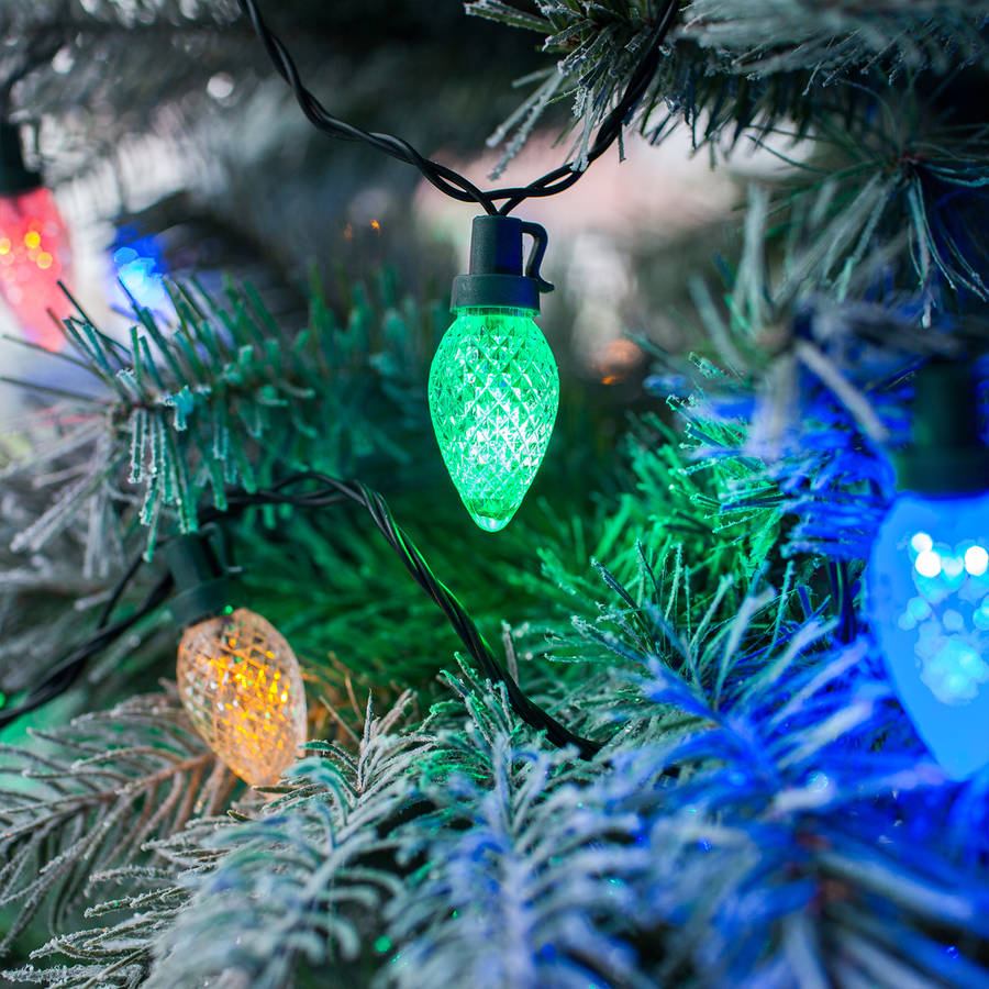 Multi Coloured Pinecone Christmas Lights By Lights4fun
