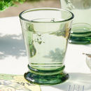 Botanical Alfresco Green Bee Glass Tumbler