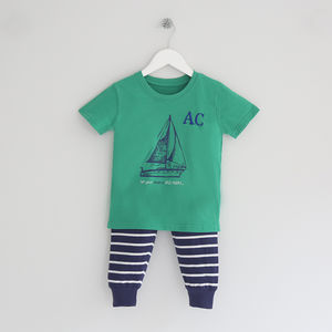 Personalised Sailboat Summer P Js
