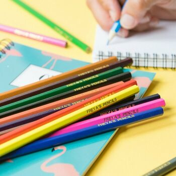 16 Personalised Colouring Pencils
