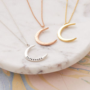 Personalised Moon Necklace - modern-boho