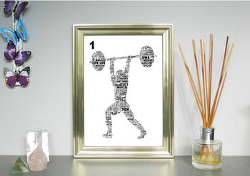 Weightlifter Personalised Word Art Print