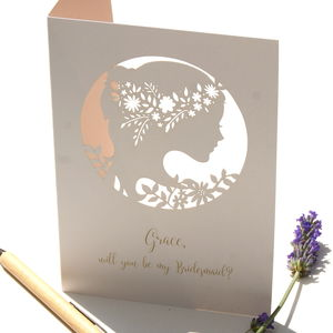 Boho Bridesmaid Personalised Card - be my maid of honour