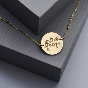 Loved Ones Handwriting Disc Necklace