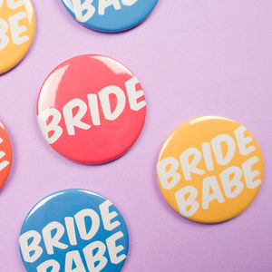 Hen Party Badges Bride Babe