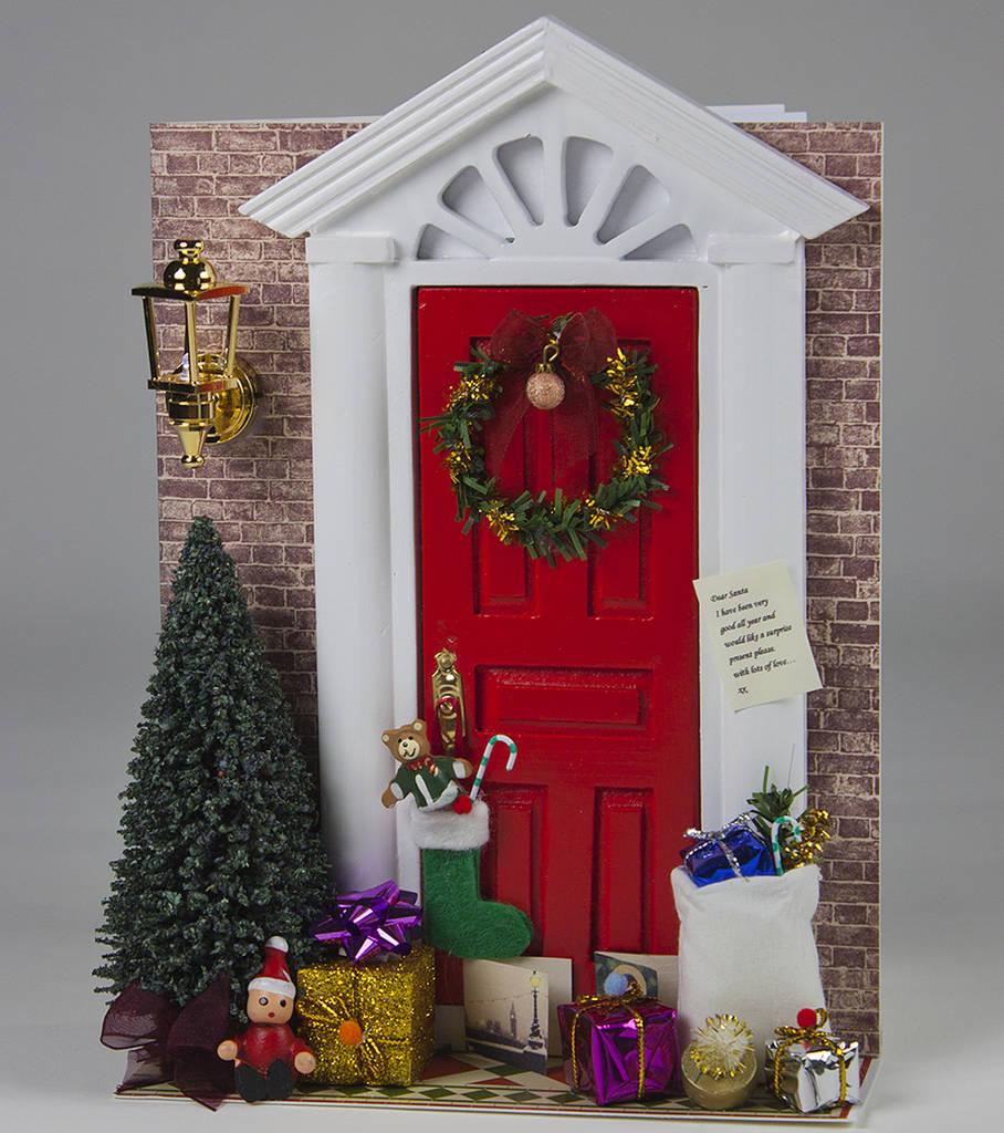 Christmas Door De Light Personalised Card