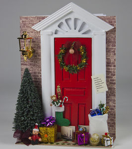 Christmas Door De Light Personalised Card