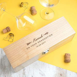 Personalised Graduation Gift Wine Box - new in home