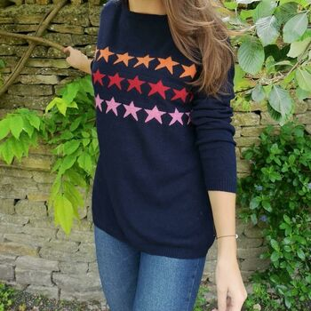 Multi Star Cashmere Jumper