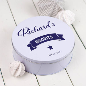 Personalised Biscuit Tin - storage & organising