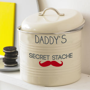 Personalised Biscuit Stache - storage & organising
