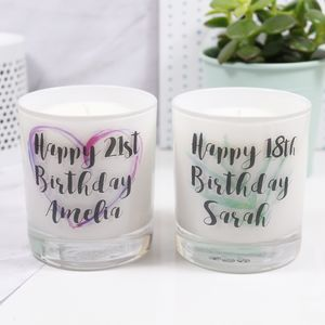Personalised Birthday Luxury Scented Candle - candles