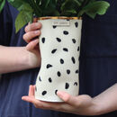 Personalised Polka Dot Ceramic Vase