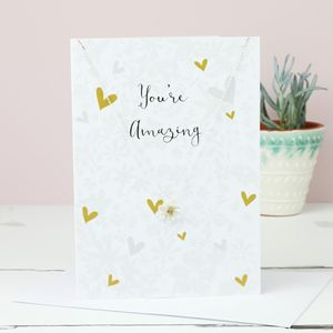 Flower Pendant Necklace And Greetings Card - blank cards