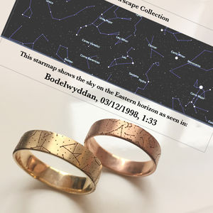 Custom Star Map Wedding Rings