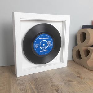 Real Vinyl Record Personalised Label 45rpm