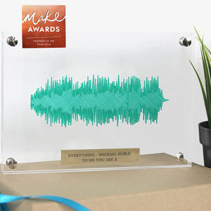 Crystal 'Any Song' 3D Floating Sound Wave - personalised