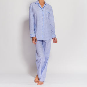 Women's Pyjamas In Crisp White Paisley - lingerie & nightwear