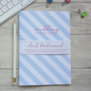 Chief Bridesmaid Notebook - notebooks & journals