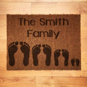 Personalised Footprints Doormat - gifts for families