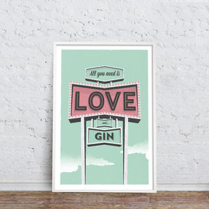 Personalied 'All You Need Is Love And…' Print