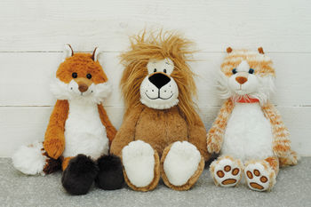 Soft Toys Fox, Lion And Cat In Magnetic Gift Box