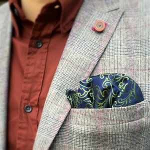 Ares Woven Silk Pocket Square