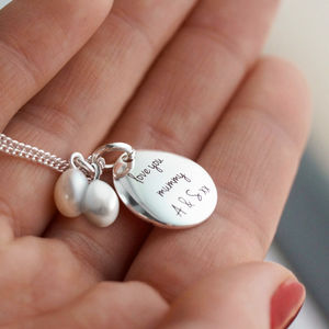 Personalised Narrative Pearl Necklace - gifts for grandparents
