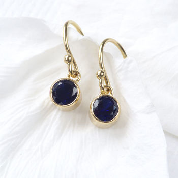 Birthstone Earrings In 18ct Gold