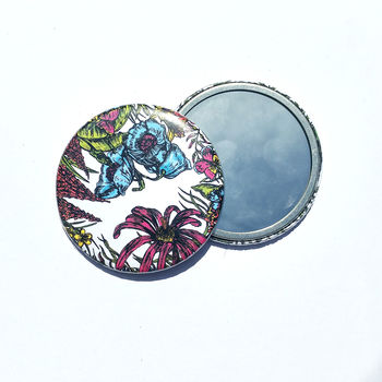 Tropical Flowers Pocket Mirror