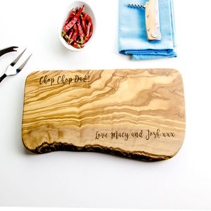 Personalised Wooden Chopping Board - gifts for fathers